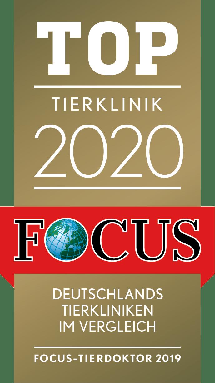 Siegel des FOCUS Top Tierklinik 2020
